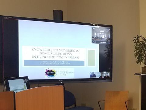 """Donatella Della Porta Skype presentation, """"Knowledge in Movement"""""""