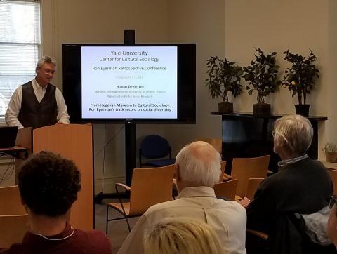 "Nicolas Demertzis, ""From Hegelian Marxism to Cultural Sociology. Ron Eyerman's track record on social theorizing"""